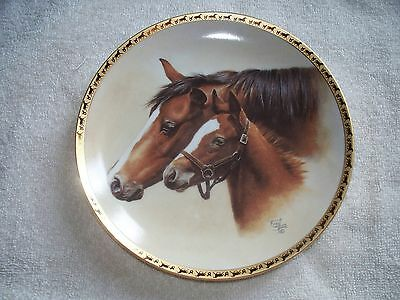 """Tranquility Fred Stone  6 1/2""""  Mini Collector Horse Plate"""