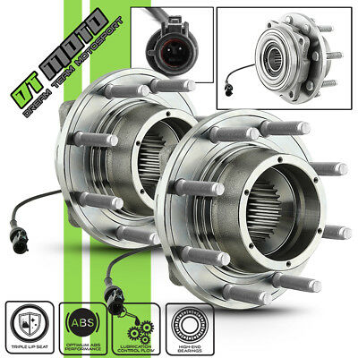 PAIR (2) 515081 05-10 Ford F250 F350 4WD Front Wheel Hub Bearings Assembly w/ABS