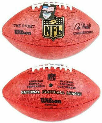 Official Wilson NFL The Duke Football On Field Game Ball Authentic Leather  F1100 6d08784bcce