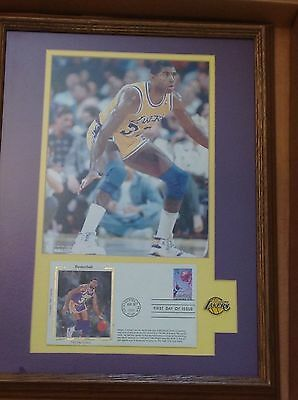 Limited Ed Lakers Magic Johnson Frame Art USPS Photo Envelope First Day of issue