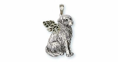 Golden Retriever Angel Pendant Jewelry Sterling Silver Handmade Dog Pendant GD20
