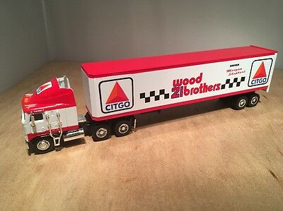 Citgo Wood Brothers Kenworth K100E Semi Die Cast Coin Bank - Liberty 1:64 Scale