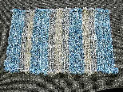 Authentic Amish Handmade Rug 28 x 43 by Mary Borntrager of Chili, Wisconsin