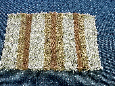 Authentic Amish Handmade Rug 27 x 43 by Mary Borntrager of Chili, Wisconsin