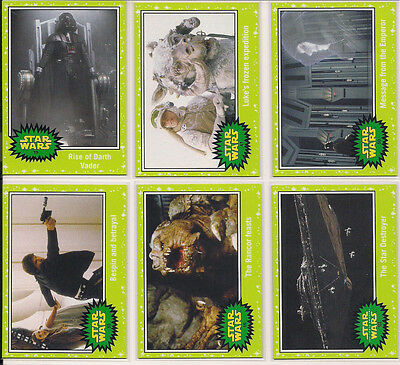 2015 Star Wars Journey to The Force Awakens Jabba Slime Green 63 card lot