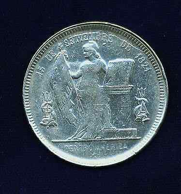 Honduras Republic   1895/4  1 Peso Silver Coin, Xf/almost Uncirculated