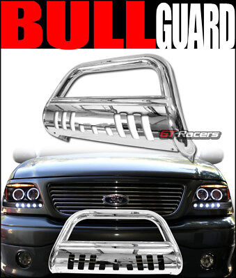 S/S Steel Bull Bar Brush Bumper Grill Grille Guard For 2005-2019 Nissan Frontier