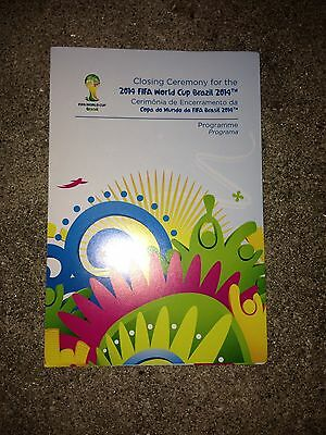 Programme Closing Ceremony FIFA World Cup 2014 Brasil WM Finale Deutschland