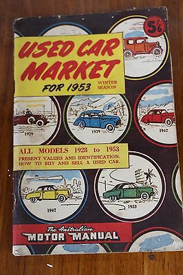 1953 USED CAR MARKET CATALOGUE SYDNEY NSW 130 pages Motor Manual