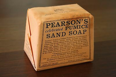 Vintage PEARSON'S PUMICE Sand Soap House Hold Cleaning Collectable