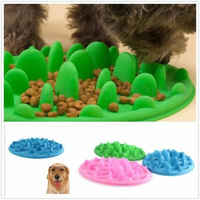 Large/Small Dog Slow Down Eating Feeder Dish Pet Cat Puppy Feeding Food Bowl