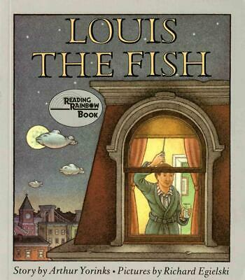 Louis the Fish by Arthur Yorinks (English) Paperback Book Free Shipping!