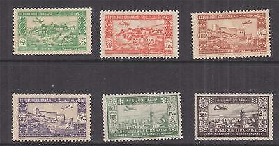 LEBANON, 1944 Air, 2nd. Anniversary Independence set of 6, mnh.