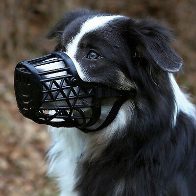 Trixie BLACK Plastic Enclosed Dog Muzzle - All Sizes Of Dog Muzzles
