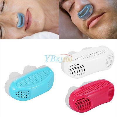 Silicone Ronflement Bouchon Anti Snore Nez Clip Sleeping Aide 3 Couleurs Neuf