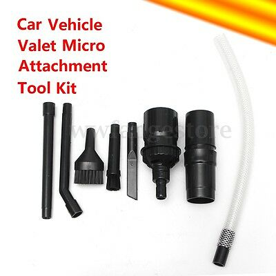 8pc Micro Tool Valet Computer Car Vehicle Cleaning kit for  Vacuum Cleaners