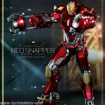Hot Toys 1/6 Scale Iron Man 3 Red Snapper Mark Xxxv Collectors Figure