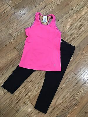 GUC IVIVVA Athletica Lululemon Keep Ur Cool Racer And Rhythmic Crops Size 10