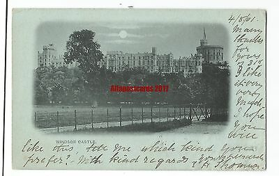 Berks Early View of Windsor Castle 1901 Vintage Postcard 2.6