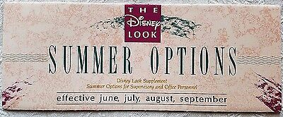 Very Rare 1990 Disney Wdw Disney Look Salaried Cast Costuming Summer Guidelines