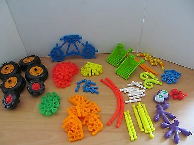 Kid Knex Job Lot Of 70 Pieces A Variety Of Shapes And Colours