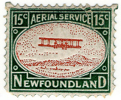 (I.B-CK) Canada Air Mail : Newfoundland Aerial Service 15c (Roessler Forgery)