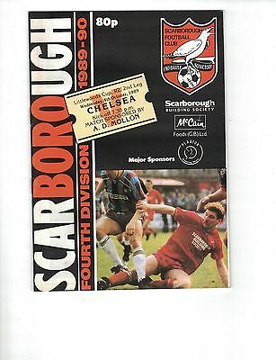 SCARBOROUGH v CHELSEA 4th October 1989 Football League Cup