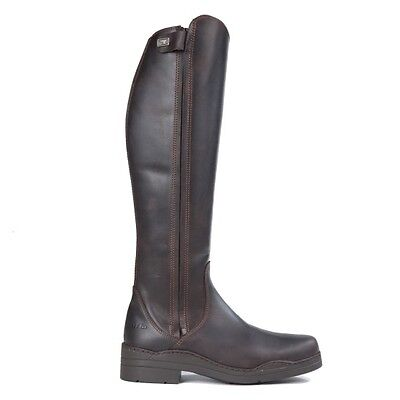 Sale Tuffa Derby Slim-Fit Long Leather Riding Boots -  Brown