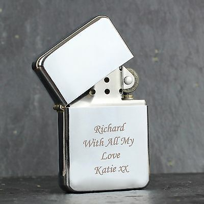 Personalised Engraved Lighter- Available in Red, Blue, Silver, Black & Rainbow