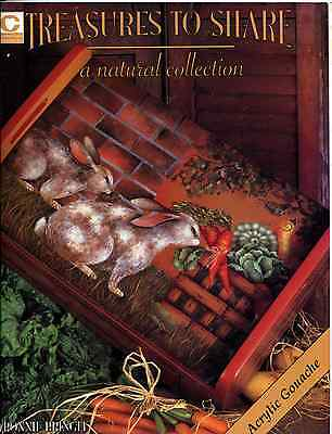 PAINTING BOOK - TREASURES TO SHARE a natural collection by Bonnie Bringle