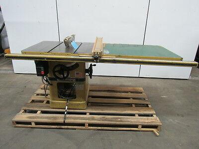 "POWERMATIC 66 5 HP 10"" Table Saw OEM Fence & Table Extension"