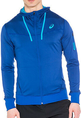 Asics Essential Mens Full Zip Hoody - Blue