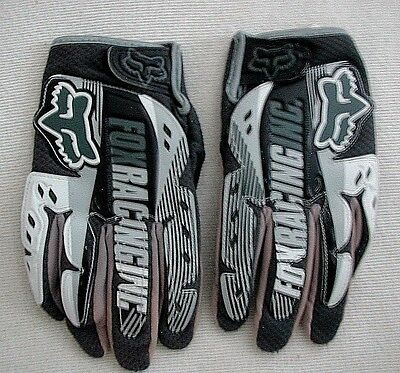 Boys FOX RACING GLOVES Dirtpaw Motocross Dirt Bike ATV Size Kids L 7 EUC