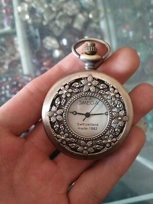 China produced bronze sculpture mechanical old pocket watch
