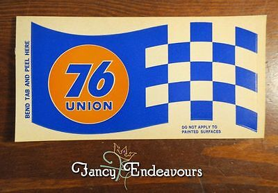 Union 76 Racing Flag Decal Vintage Oil Gas Race Car Advertising