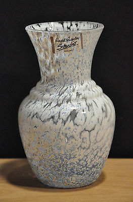 One Royal Brierley Studio Art Glass Vase With Label