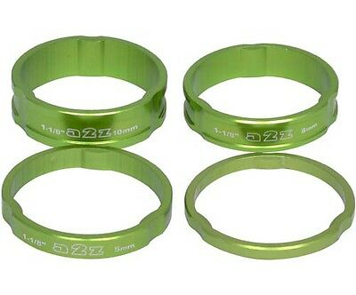 "A2Z Alloy Headset Spacers 1.1/8"" MTB Bike 3mm, 5mm, 8mm, 10mm Green Spacer"