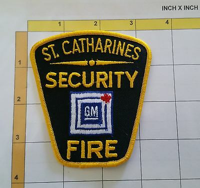 GM General Motors St. Catharines Incendie Pompier Fire Security Obsolete Patch