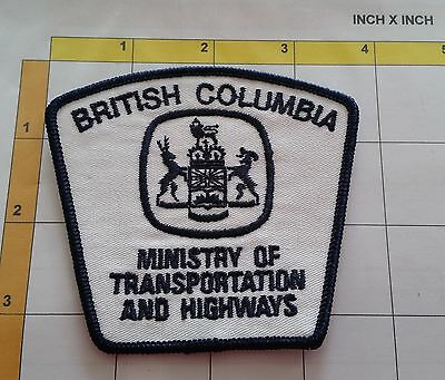 Canada BC British Columbia Ministry of Transportation Police Dept Obsolete Patch