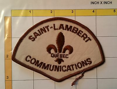 Canada QC Saint-Lambert Communications Police Dept Officer Obsolete Patch