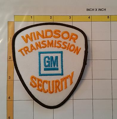Canada GM General Motors Windsor Security Services Guard Obsolete Patch