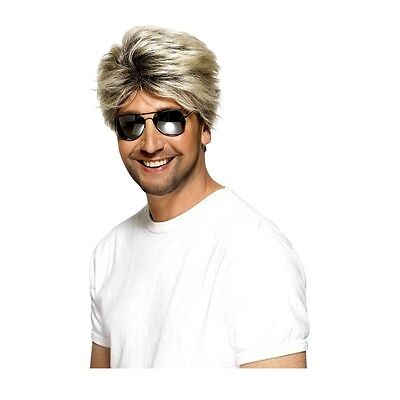 Blonde 80s Wig Adult Miami Vice George Michael Wham Costume
