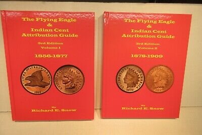 The Flying Eagle & Indian Cent Attribution Guide 1856-1909 Snow 3rd ed 2 Vol Set