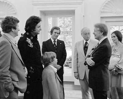 President Carter with Johnny Cash and Family 11x14 Silver Halide Photo Print