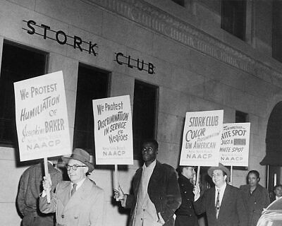 Stork Club Protest in Support of Josephine Baker 11x14 Silver Halide Photo Print