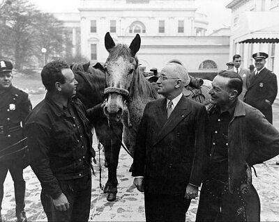 Truman Greets Ned Kennedy and Cecil Cary 11x14 Silver Halide Photo Print