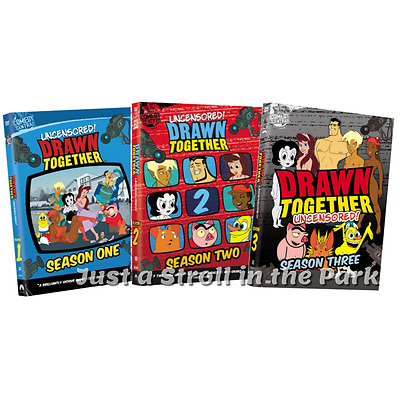 Drawn Together: Complete Animated TV Series Seasons 1 2 3 Box / DVD Set(s) NEW!