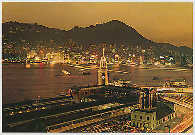 Night View Hong Kong Central District, Kowloon-Canton Railway Station