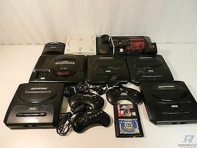 Lot of 13 Sega Consoles, Controllers, Games - Genesis, Dreamcast, Master System
