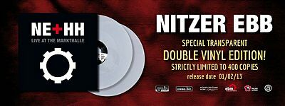 NITZER EBB Live at the Markthalle 2LP CLEAR VINYL 2013  LTD.400
